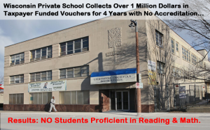 In 2014, the state moved to terminate an underperforming private school from the Milwaukee voucher program that had operated for almost four years without accreditation — and received more than $1 million in taxpayer money during that time.